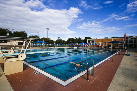 Photo of the outdoor pool at the Semones Family YMCA