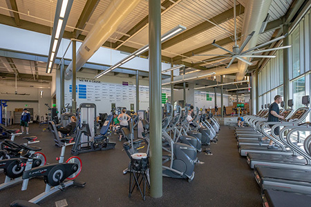 Photo of the fitness floor at the White Rock YMCA